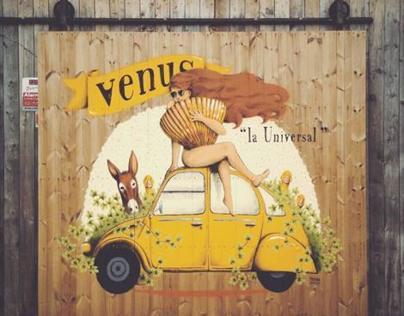 "Venus ""la Universal"" cellar's door"