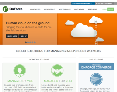 OnForce Public Website