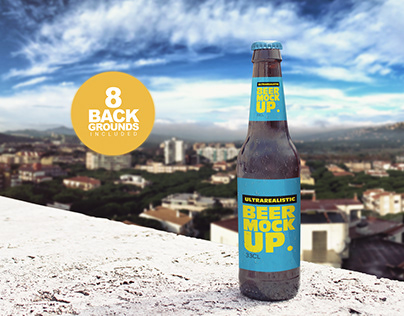 Backgrounds Beer Bottle Mockup