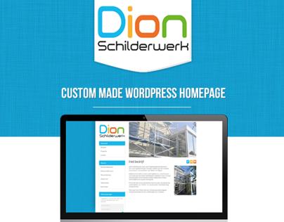 Dion Schilderwerk custom Wordpress homepage
