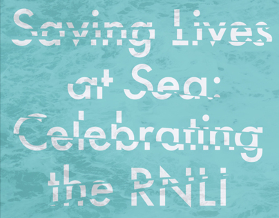 RNLI Exhibition Poster - Saving Lives at Sea