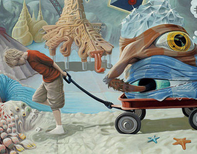 """Caravan of My Inner Child"", Oil, 30"" x 40"", 2013"