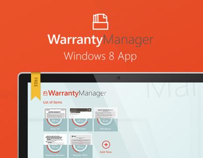 Warranty Manager Windows 8 App