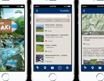Żywiec Zdrój Mountain Trails mobile app