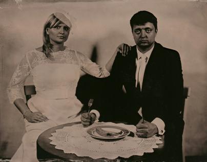 Wedding - studio works. Ambrotype.