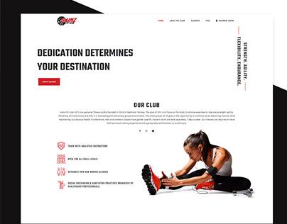 Fitness Club Web Design