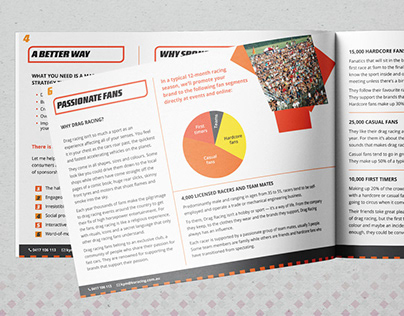 Pitchdeck Brochure: cover, interior, page layout, graph
