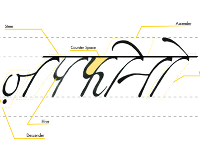 """Zapfino"" Devanagari font - Typeface Derivation."