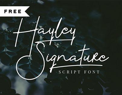 FREE | Hayley Signature Script Font