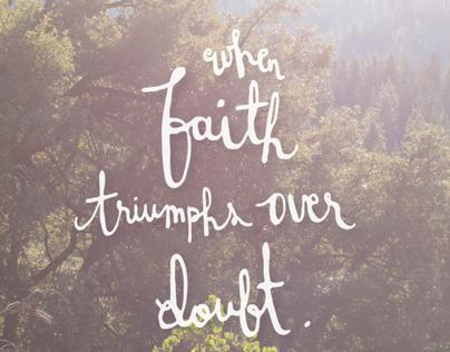 faith/doubt