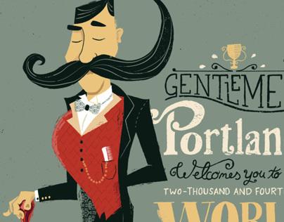 Beard & Mustache Champ. Poster
