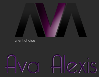 Ava Alexis Accessories Logo Project