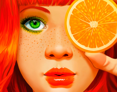 Testing Wacom Bamboo Pad: Orange Girl