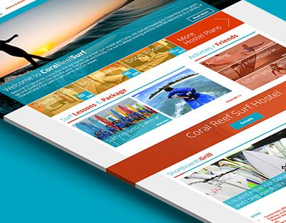 Coral Reef Surf Website Design