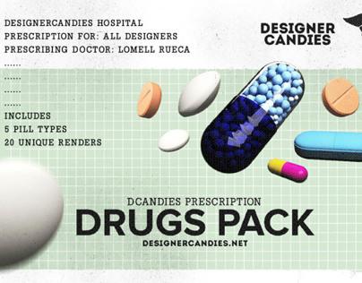 Drug Renders Pack: Capsules, Tablets & Pills