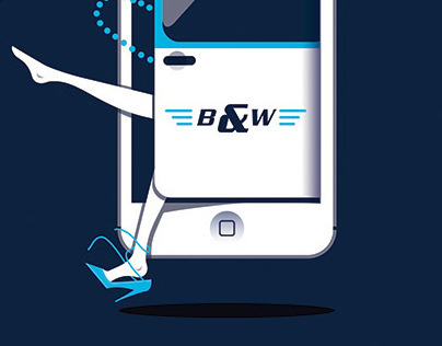 Blue & White Cab App