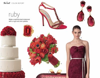 2014 Winter Ed The Knot National Magazine: Color Report