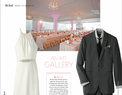 2014 Winter Ed The Knot National Magazine: Dress Codes