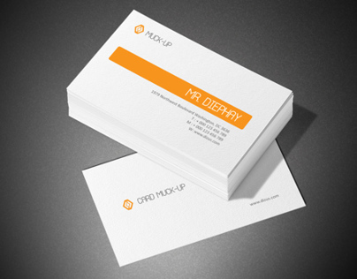 Textured Business Card Mock-Up