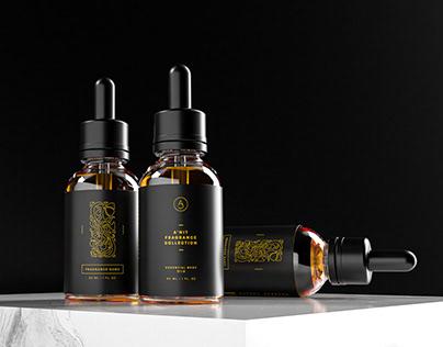 A'nit Fragrance Co. dropper bottle design