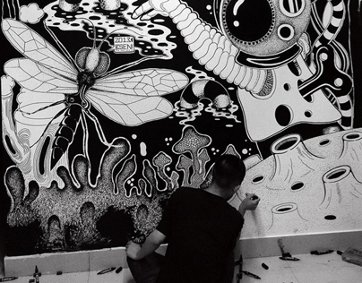 black and white paintings