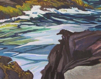 Gouache Paintings in Maine