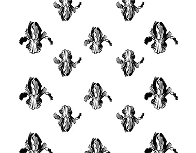 IRISES pattern for a clothing collection