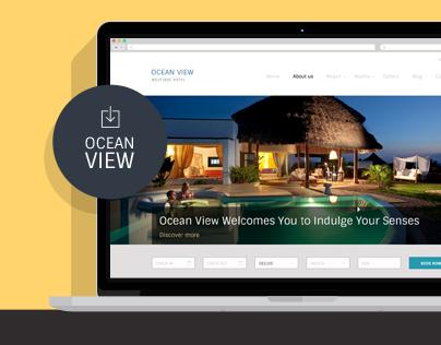 Ocean View - Hotel Website PSD Template