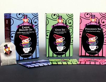 Mad Hatter Tea Packaging Design