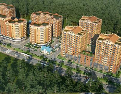 The residential complex Kievskiy