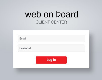 Web on board report system