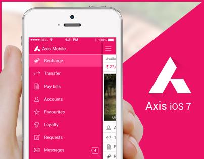 Axis mobile app iOS 7 Concept