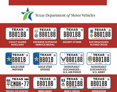 TxDMV Military License Plates Brochure