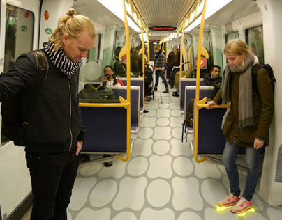 The Grid - interactive floor in the danish metro