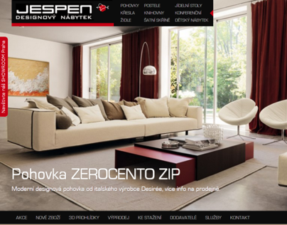 JESPEN.cz - italien furniture store website