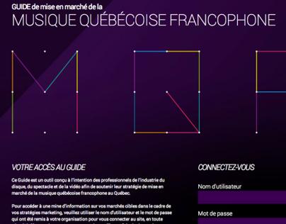 Guide de mise en marché de la MQF 2012