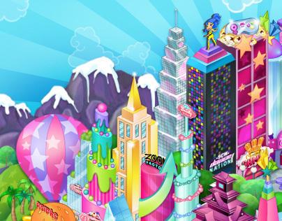 Spark City World Illustrations