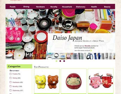 Daiso Site Re-design