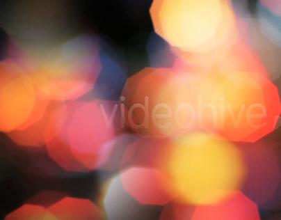 Bokeh Moving Lights