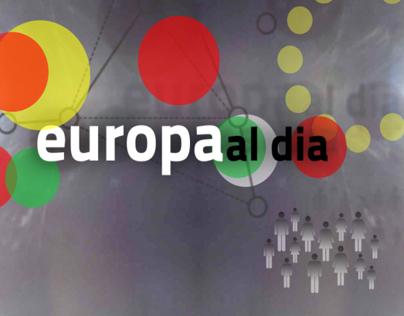"""""""Europa al dia"""". Programa de Información europea."""