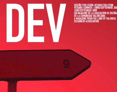 Portada DEV. Publicación de diseño.