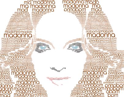 Lettering Madonna