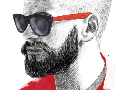 hybition eyewear lookbook illustration