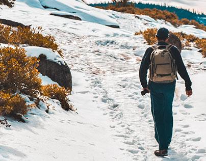 Winter Hiking by Domenica Cresap