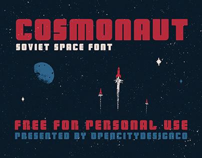 Cosmonaut - Soviet Space Font FREE
