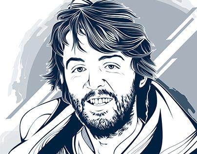 Paul McCartney on my line art style
