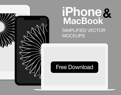 iPhone&MacBook vector mockups [AI]