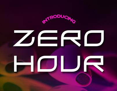 Free Font: Zero Hour