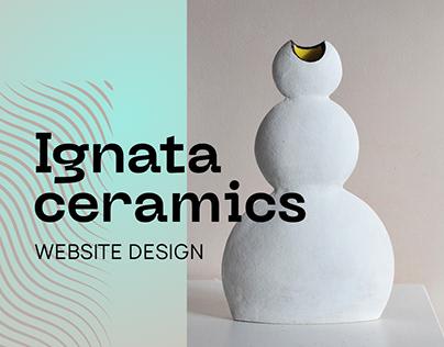 Ceramics website design / 2021