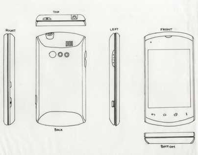 Cell Phone Drawings (fall 2012)
